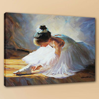 Ballerina Checking Her Shoes Handcrafts  HD Print Wall Art P...