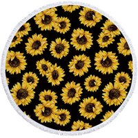Sunflower Beach Towel Newest Serape Round Beach Towel With T...