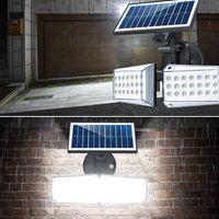 Solar Micro-ondas indução Luz 20W Led Sensor de Movimento luzes de inundação ao ar livre lâmpada de indução, Inteligente Luz, 6000K, branco fresco