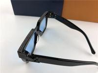HOTsunglasses дизайнерские солнцезащитные очки миллионера 1165 квадратный черный кадр синий объектив новый цвет высокое качество лето на открытом воздухе UV400 объектив солнцезащитные очки