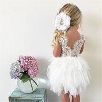 2020 봄 / 여름 새로운 여자 메쉬 드레스 아기 레이스 공주 웨딩 어린이 드레스