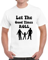 Let The Good Times Roll Cool Family Skaters T Shirt In- line ...