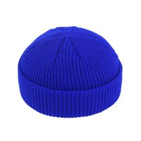 Fashion Unisex Winter Hat Men Cuffed Cib Knit Hat Short Melo...