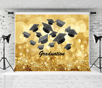 2021 backdrop de temporada de graduação dourado Bruxh fotografia fundo bachelor boné decoração pano de fundo para estudantes graduados festa atirar studio studio