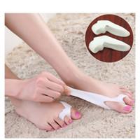 1 pair Başparmak Valgus Koruyucu Silikon Jel ayak parmakları Iki Delik Ayak Ayırıcı Bunion ayarlayıcı Halluks Valgus ayak bakımı