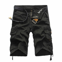 Mens Neue Cargo-Shorts Sommer Shorts Solid Color Hip beiläufige Ladung Male Bottom kurze Hosen Hop