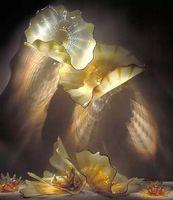 الخيالة مجردة تصميم الزجاج المنفوخ لوحة رخيصة المعاصر الديكور جدار الفن أنيق زجاج مصباح الجدار الخفيفة