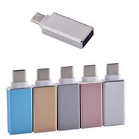 Tipo C OTG Adaptador Male a USB 3.0 A Adaptadores de convertidores femeninos para teléfono Android Samsung