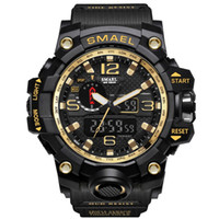 SMAEL 1545 Brand Men Sports Watches Dual Display Analog Digi...