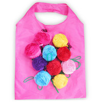 Rose Faltbare Einkaufstasche 3D Flower Folding Wiederverwendbare umweltfreundliche Umhängetasche Folding Pouch Aufbewahrungsbeutel HHA636