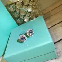 Moda - Stud de Qualidade com Diamante Branco Sparkly para Mulheres Brinco e Anel Casamento Presente Frete Grátis PS6705