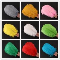 Diy страусиные перья плюмажи ремесленные принадлежности для свадьбы Центральный Свадебный декор события праздничное украшение 14 цветов RRA2610