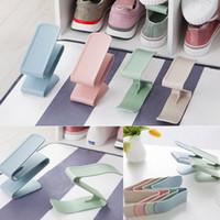 Горячий Творческий Пластиковый Стеллаж Для Обуви Организатор Компактного Хранения Регулируемый Прочный