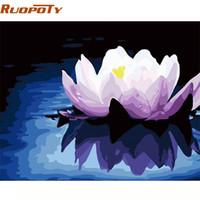 RUOPOTY quadro de pintura Flowers Diy By Numbers Kit Modern Wall Art Imagem Coloring By Numbers original do presente para a decoração Home