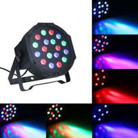 LED Sahne Par Işık Otomatik Ses Aktif Etkileri Işıkları Lamba RGB Ev Partisi KTV DJ Disco Club Noel için DMX Aydınlatma