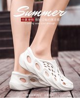 New Style Sandals Outdoor Big Talker INS Coconut Porous Shoes Upstream Shoes Garden Shoes White