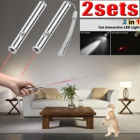 / 2000Lumen LED 토치 손전등하기 Lazer 개 고양이 애완 동물 장난감 w 2PACK 10Miles 군사 그란데 650 ㎚ 레드 AA 레이저 포인터 펜