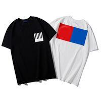 새로운 디자이너 T 셔츠 남성 의류 브랜드 티 셔츠 패션 여름 조류 Braned 편지 인쇄 럭셔리 남성 셔츠 의류 블랙 화이트 탑
