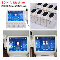4D Body Lifting 3D Face Hifu Contouring 8 cartouches HIFU avec 20000 Shots 12 lignes à ultrasons Couteau de machine 3D Hifu