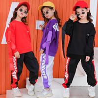 Escenario Desgaste Niños Hip Hop Ropa Casual Tops Camisa Sudadera Baile Jogger Pantalones para niñas Boys Jazz Dance Traje Ropa de baile