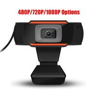 새로운 HD 웹캠 웹 카메라 초당 30 프레임 480P 720P 1080P PC 카메라 내장 노트북을위한 마이크 USB 2.0 비디오 녹화를 들어 컴퓨터 사운드 흡수