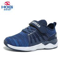 Kids Sport Shoes for Boys Trainer Girl Children Sneakers Shoes Boys Running Footwear Tennis Mesh Casual Slip on Hobibear H7617