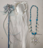 New Snow Queen II Dress up for Girls snowflake Necklaces Pen...