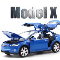 New 1: 32 Tesla X Alloy Car Model Diecasts & Vehicles Cars Fr...