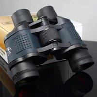 Los últimos modelos de alta magnificación 60x60 telescopio prismáticos de la caza impermeable de alta potencia de la visión nocturna película roja lejos espejo con COORDINA