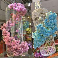 الكرز اصطناعية جميلة أزهار فرع زهرة الحرير الوستارية فاينز للمنزل مناسبات الزفاف باقة من الزهور EEA993-3