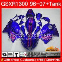 Cuerpo para SUZUKI Hayabusa GSXR 1300 GSXR1300 96 02 03 04 05 06 07 24HC.19 GSX R1300 1996 2002 2003 2004 2005 2006 2007 Carenado azul rosa caliente