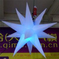 사용자 정의 2m 직경 풍선 풍선의 Inflatables 스타와 LED 라이트를 들어 나이트 클럽 무대 장식 장식