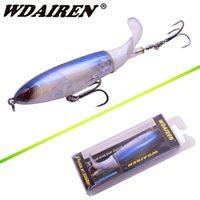 Topwater الصيد إغراء 10 سنتيمتر 13.5 جرام ووبر بوبر الطعم الاصطناعي الصلب plopper لينة الدورية الذيل صيد السمك جي