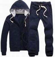 Nouveau 2019 Hommes Solide Polo Survêtements De Mode Coton Petit Poney Broderie Jogging Combinaison À Manches Longues Zip Sportwear Running Pantalon