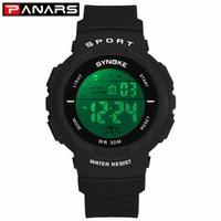 Panars Kids Sports Digital orologi colorati LED Scavo fuori cinturino multi-funzione studenti casual elettronici orologi adolescenti ragazzi