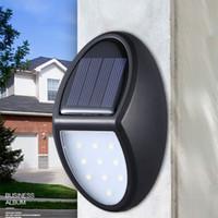10 LED IP65 Водонепроницаемые солнечные лампы 600LM PIR датчик движения двор стены настенный светильник вилла садовый уличный уличный свет
