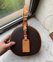 M43514 Petite Boite Chapeau Favorita Brown Bolsa Bolsas de Ombro Hobo Bolsas Top Alças Boston Corpo Cruz do Messenger Bolsas de Ombro # 7756