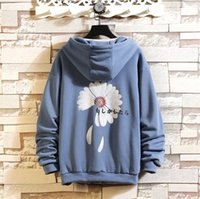 Mens Pullover Flower Spring Hoodies Men New Fashion Korean H...