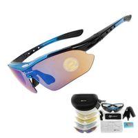 2019 편광 브랜드 자전거 남성 여성 선글라스 레이싱 스포츠 사이클링 태양 안경 산악 자전거 고글 (5) 렌즈 야외 자전거 안경