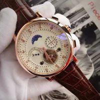 A-üst marka lüks saat tourbillon mekanik otomatik kol saati erkek mens rejoles hediye Kalite günlük tarih elmas kadranı saatler