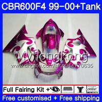 Bodys + Tank für HONDA CBR 600 F4 FS CBR 600F4 CBR600F4 Rose silbrig heiß 99 00 287HM.54 CBR600FS CBR600 F 4 CBR600 F4 1999 2000 Verkleidungssatz