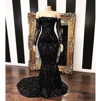 Amazing Off The Shoulder Mermaid Prom Dresses 2019 New Black...