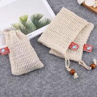 Cotone e lino Handmade del sapone Doccia Bagno schiuma bagno naturale Borsa Sisal doccia Soap Bag XD20313