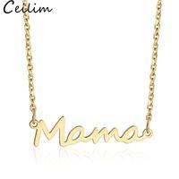 الفولاذ المقاوم للصدأ إلكتروني ماما قلادة الأمهات الحب قلادة الحد الأدنى قلادة الفضة الذهب روز الذهب الألوان المجوهرات أفضل لأمهات عيد الأم