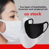 US STOCK, Designer Masque coton bouche Masque Masque moufles pour le cyclisme Camping Voyage, 100% coton lavable Masques réutilisables en tissu