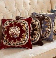 Nuovo stile alta qualità atmosferica Smooth lusso continentale Ciniglia Fascia Alta sofà di cuoio o un'immagine americano casual Cuscino Ufficio