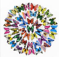 Luminous Kühlschrankmagnete 3D-Schmetterlings-Entwurfs-Abziehbild-Kunst-Aufkleber-Raum-Magnetic Home Decor DIY Wanddekoration Neueste