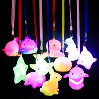 Regalos de la noche con la luz de la cuerda Pez delfín noche de la lámpara Conejo festivo linterna conejito de color linterna del sitio del cabrito luces de la decoración del partido
