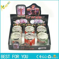 Tobacco Grinder Coke Pop Cans Herb Pollen Spice Crusher 4 Pa...