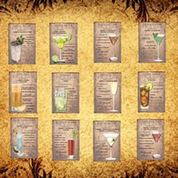 Cocktail Lounge Mai Tai Margarita Metal Sinal Da Lata Poster Home Decor Bar Arte Da Parede Pintura DH004